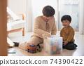男孩和母親的形象/育兒/在家育兒 74390422