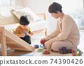 男孩和母親的形象/育兒/在家育兒 74390426