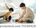 男孩和母親的形象/育兒/在家育兒 74390428