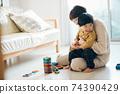男孩和母親的形象/育兒/在家育兒 74390429
