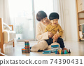 男孩和母親的形象/育兒/在家育兒 74390431