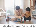 男孩和母親的形象/育兒/在家育兒 74390432