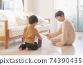 男孩和母親的形象/育兒/在家育兒 74390435