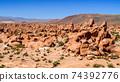 Volcanic landscape of bolivian Altiplano, Bolivia, South America 74392776