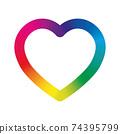 Rainbow spectrum heart 74395799