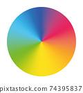 Vector color wheel. Colorful vector disc 74395837