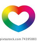Rainbow spectrum heart 74395883