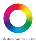 Vector color circle 74395922
