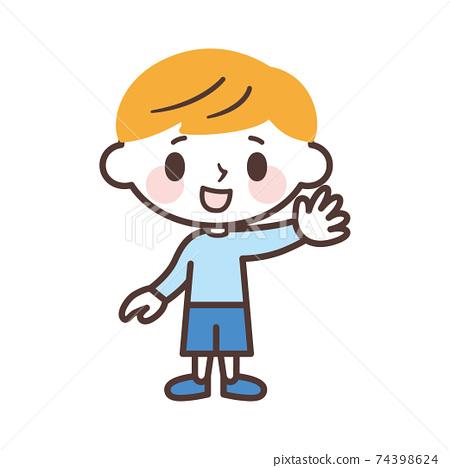 可愛男孩圖標 74398624