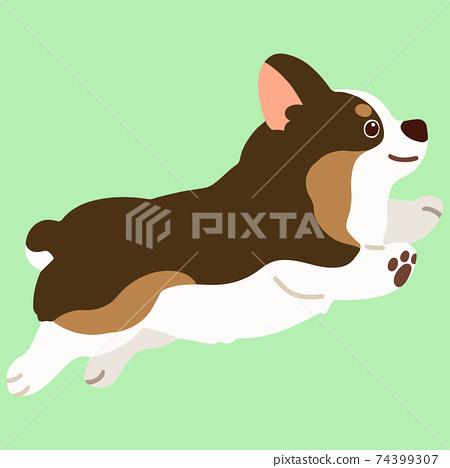 簡單可愛的柯基犬圖片,無需主線即可運行黑貂色 74399307