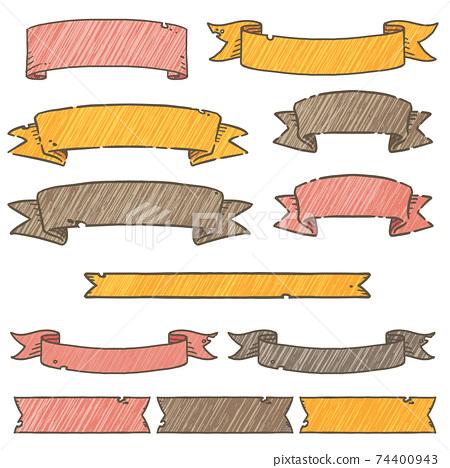 手繪絲帶框架 74400943
