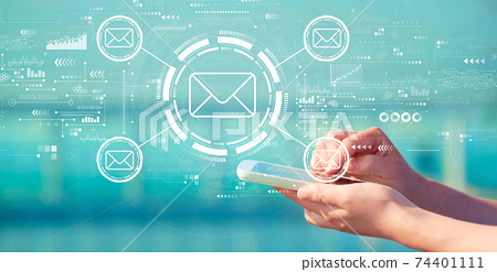Email concept with smartphone 74401111