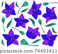 Modern flower design for print. Floral design concept. Vector illustration 74403411
