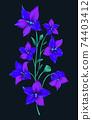Modern flower design for print. Floral design concept. Vector 74403412