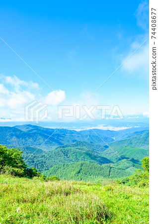 Washigamine登山(夏季):從山路向mountain訪的景色 74408677