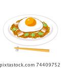 煎雞蛋炒麵的插圖 74409752