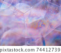 Soap bubbles. Rainbow gradient. Close-up view with 74412739
