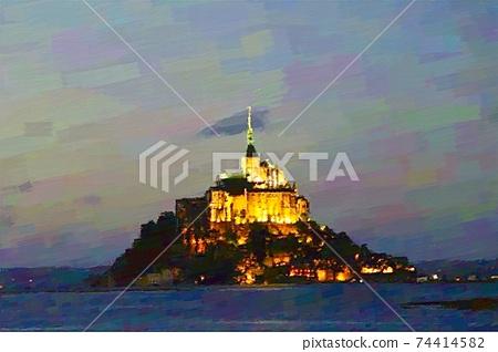 프랑스 몬산미세루의 풍경 74414582