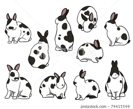 坐兔短耳朵斷套 74415549