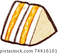 Illustration material of egg sandwich 74416101