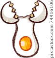 Illustration material of broken egg 74416106