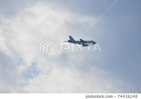 海上自衛隊P-1巡邏機在天上飛 74416248