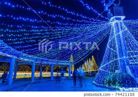 기후현 가이즈시 기소 삼강 공원 센터의 일루미네이션 이벤트 겨울 빛 이야기 74421188