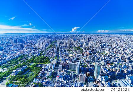 오사카 시내 전경 74421528