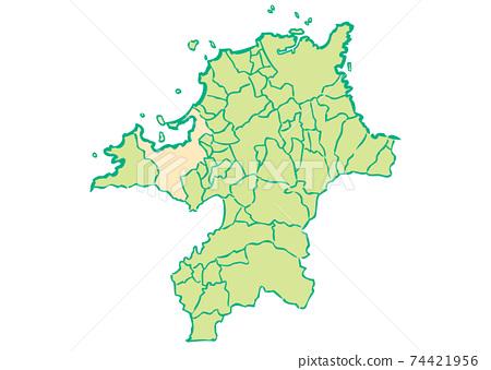 福岡縣福岡縣/行政區域地圖 74421956