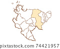 Saga Prefecture Saga City Prefectural / Administrative Area Map 74421957