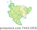 Saga Prefecture Saga City Prefectural / Administrative Area Map 74421958