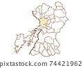 Kumamoto Prefecture Kumamoto City Prefectural / Administrative Area Map 74421962