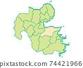 Oita Prefecture Oita City Prefectural / Administrative Area Map 74421966