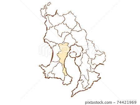 鹿兒島縣鹿兒島市縣/行政區域地圖 74421969