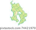 Kagoshima Prefecture Kagoshima City Prefectural / Administrative Area Map 74421970