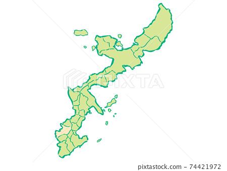 沖繩縣那霸市各行政區域地圖 74421972