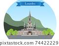 Rosary Basilica in Lourdes, France 74422229