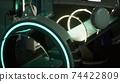 futuristic sci fi MRI Scanner medical equipments in hospital 74422809