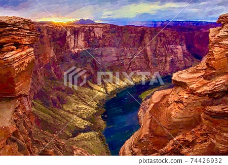 Landscape of the Grand Canyon, USA 74426932