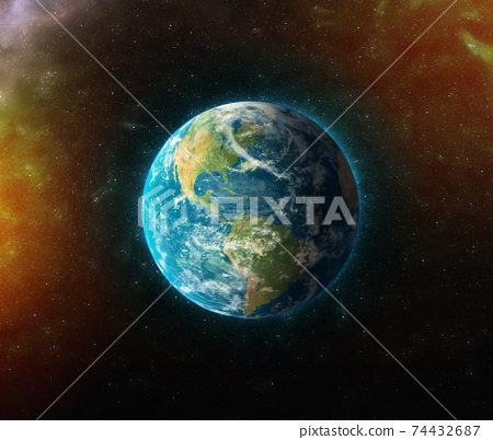 planet earth realistic 3d rendering 74432687