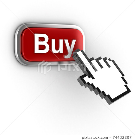 donate 3d button on white background 74432807