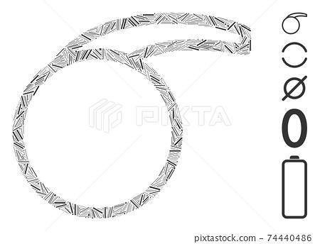 Line Mosaic Empty Special Retort Icon 74440486