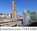 한큐 고베 산 노미야 빌딩과 도카이도 본선 74441989