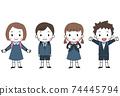 帶書包的兒童 74445794