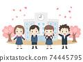 入學儀式圖片兒童 74445795
