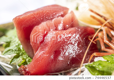 Fresh and delicious tuna sashimi 74446537