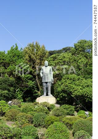 明治維新的三位貴族,鹿兒島縣鹿兒島市西鄉高森雕像 74447587