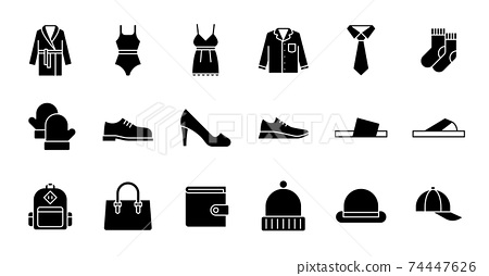 Glyph Clothing Icons 74447626