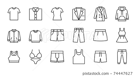 Outline Clothing Icons 74447627