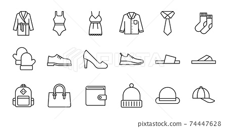 Outline Clothing Icons 74447628